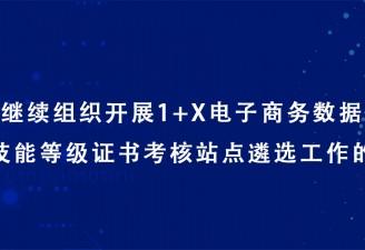 关于继续组织开展1+X电子商务数据分析职业技能等级证书考核站点遴选工作的通知
